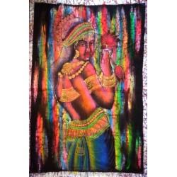 Γυναίκα Ζωγραφική Μπατίκ σε Υφασμα απο Ινδία