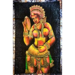 Woman Βatik Painting from India.