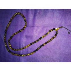 Tiger Eye Crystal Mala Necklace from Nepal