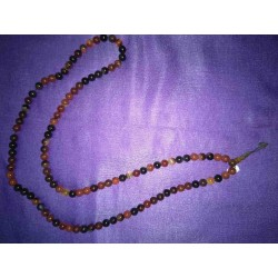 Black Red Agate Crystal Mala Necklace from Nepal