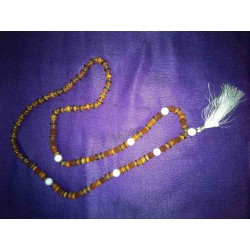Rudraksha and handmade bone beads Mala Necklace from Nepal