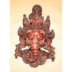 Lord Ganesha Resin Mask From Nepal