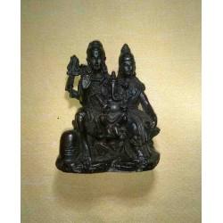 Shiva Parvati Ganesha Resin Statue From Nepal