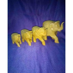Elephants wooden set from India