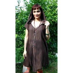 Dress knitted from India with Hood