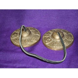 """ Ting Sha "" Finger Cymbals from Nepal."