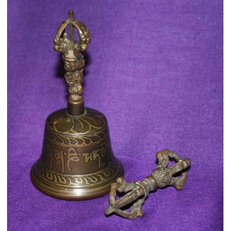 """Ghanta "" Prayer Bell with Dorje from Nepal"