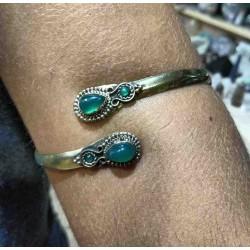 Brass Arm Bracelet Aventurine