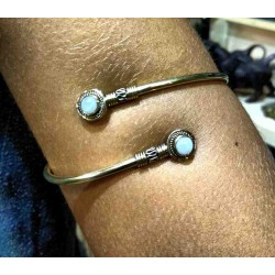 Brass Arm Bracelet Moonstone