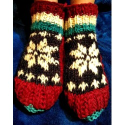 "Woolen ""socks"" with Insulation , from Nepal Size 38-41"