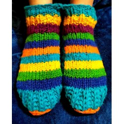 "Woolen ""socks"" with Insulation , from Nepal Size 40-43"