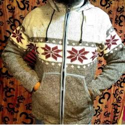 Μάλλινο Μπουφάν απο Νεπάλ Size XL