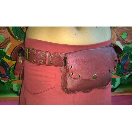 Leather money belt from India