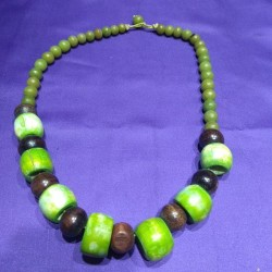 Bone and wood Necklace from Nepal