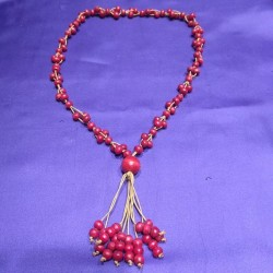 Wood Necklace from Indonesia