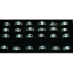 Stainless steel Rings Size 17