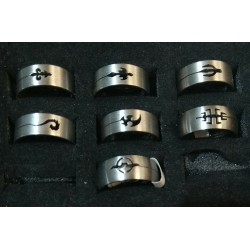 Stainless steel Rings Size 18