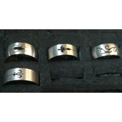 Stainless steel Rings Size 19