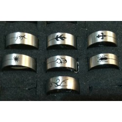 Stainless steel Rings Size 20