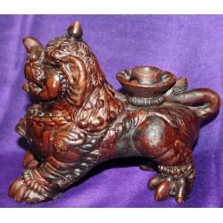 Terracotta candleholder statue From Nepal