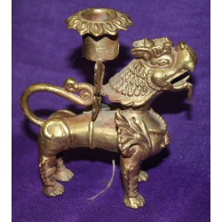 Dragondog Candleholder from Nepal