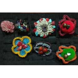 Rings macrame Knitted