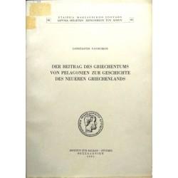 Der Beitrag des Griechentums von Pelagonien ....