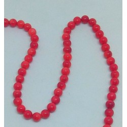 Red Coral 5mm Beads string 40cm from India