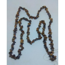 Tiger Eye Chip Beads string 80cm from India