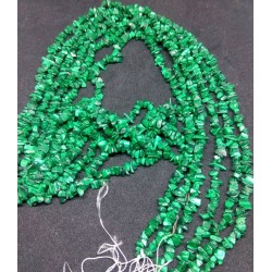Malachite Chip Beads string 90cm from India