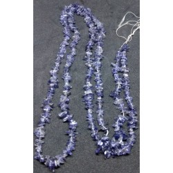 Saphire Chip Beads string 90cm from India