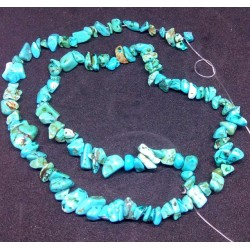 Turquoise Chip Beads string 45cm from India