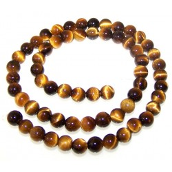 Tiger Eye Beads string 35cm from India