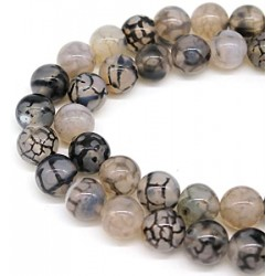Dragon Vein Agate Beads strand 35cm from India
