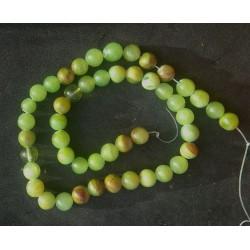 Green Jasper Beads strand 38cm from India