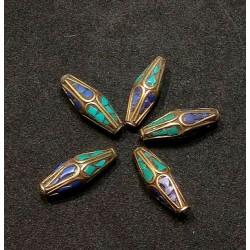 Turquoise & Lapis Lazuli Bead from Nepal